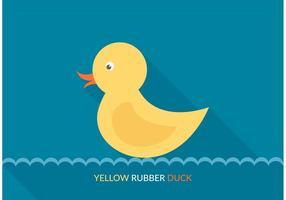 Pato de borracha amarela do vetor livre