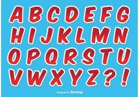Alfabeto com estilo estilo vetor