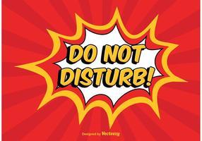 Comic Style Do not Disturb Illustration vetor