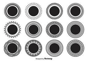 Formas circulares decorativas vetor
