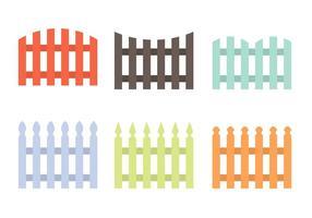 Vetores coloridos da cerca de piquete