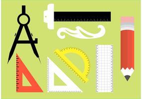 Vetores de ferramentas de arquitetura