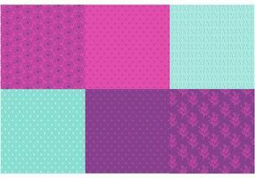 Conjunto de vetores de padrões roxos e de hortelã