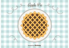 Fundo do vetor da torta de maçã