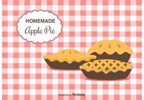 Fundo de vetor de torta de maçã feito em casa