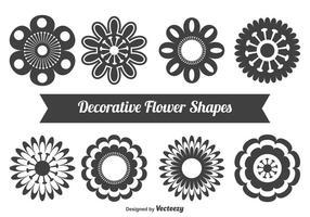 Formas florais decorativas vetor
