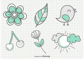 Ilustrações incompletas do jardim do verão vetor