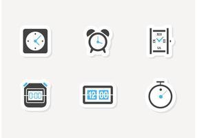 Ícones do vetor do tempo livre e do relógio