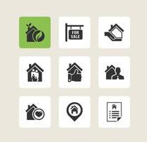 Ícones de vetor de imóveis gratuitos