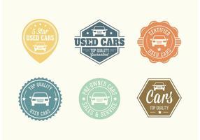 Emblemas vetoriais de carros usados gratuitos vetor