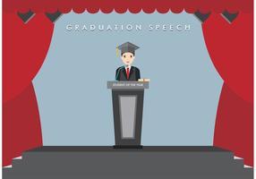 Vector de discurso de graduação grátis