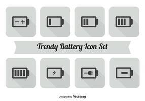 Conjunto de ícones da bateria