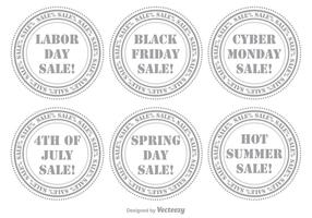 Conjunto de selos de venda vetor