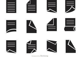 Ícones do vetor de papel