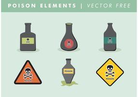 Vetor de elementos de veneno grátis