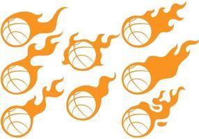 Vetores de bola de fogo do basquetebol