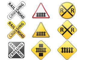 Vetores do sinal de estrada de ferro