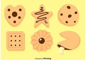 Vetores de cookies deliciosos