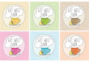 Obtenha bem os vetores do cartão de chá