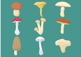 Vetores de cogumelos