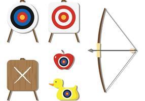 Vetores de tiro ao arco e alvo