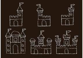 Vetores desenhados por giz desenhado