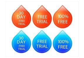 Conjunto de design de teste gratuito para vetores