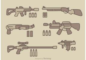 Vetor de desenhos animados de armas
