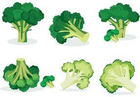 Bróculos vetores isolados