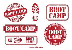 Boots Camp Rubber Stamps vetor
