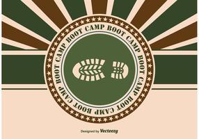 Ilustração do Boot Camp vetor