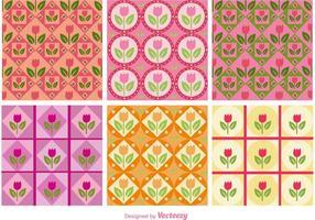 Padrões florais cor-de-rosa