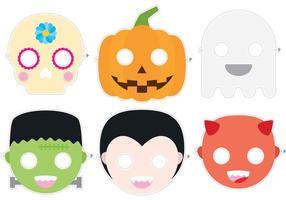 Vetores de máscara de Halloween