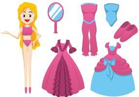 Elementos do vetor boneca Barbie