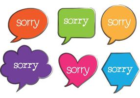 Desculpe Vetores de bolha de fala