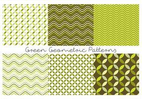 Padrões geométricos verdes