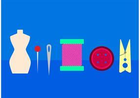 Elementos do vetor de costureira