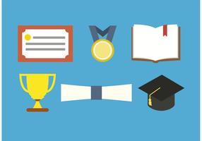 Vetores de sala de aula e graduação