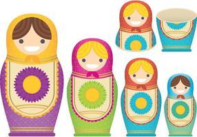 Vetores de boneca de nidificação matrioshkas