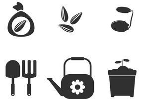 Ícones de vetor de sementes