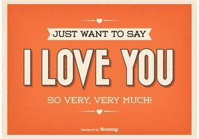 Poster tipográfico do amor do vintage vetor