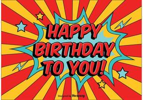 Ilustração Comic Style Birthday vetor