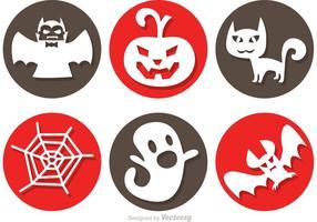 Ícones de vetor de Halloween
