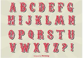Conjunto Alfabeto Vintage vetor