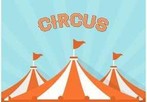 Fundo de vector de circo de grande topo grátis
