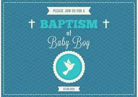 Convite grátis do vetor do baptismo do bebé