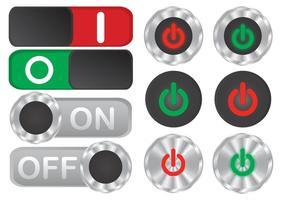 Vetores do botão Off