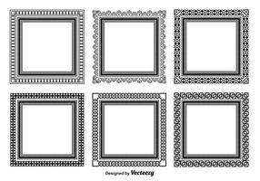 Conjunto de quadros quadrados decorativos vetor