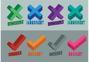 Corrigir símbolos vetoriais incorretos vetor