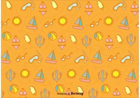 Padrão de ícones Sunny Beach vetor